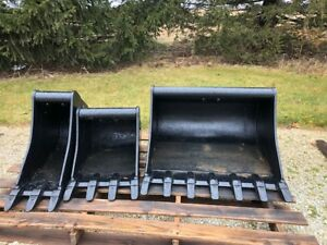 Wr Loader Excavator Backhoe Bucket Attachments For Sale lot Of 3 For 1 Price