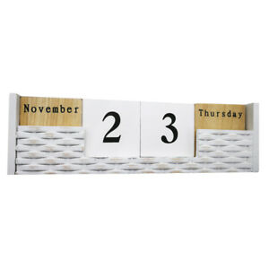 29 8 9 8 8 Cm Wooden Perpetual Block Desk Calendar Home Office Day Date Month