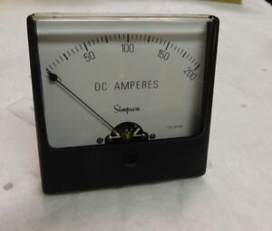 Simpson Electric Analog Dc Ammeter Panel Meter 0a To 200a 02760