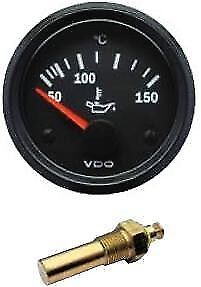 Vdo Oil Temperature Temp Gauge Sender 12volt 52mm 2 Inch 40 150 C 310010015