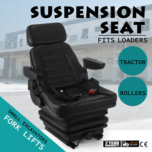 New Suspension Seat Tractor Forklift Excavator Low Profile Adjustable Up To 115