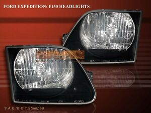 1997 2002 Ford Expedition 1997 2003 F150 Headlights Black