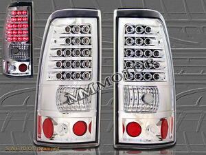 2003 2006 Chevy Silverado 2004 2006 Gmc Sierra 1500 2500 Chrome Tail Lights Led