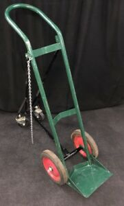 Anthony Welding Gas Cylinder Cart W folding Wheels Oxygen Acetylene Tank 6114