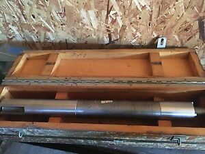 Machinest Commercial Lathe Attachment Bar With Oak Case