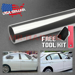 20 X120 Uncut Roll Silver Mirror Chrome Window Tint Film Car Home Office Glass
