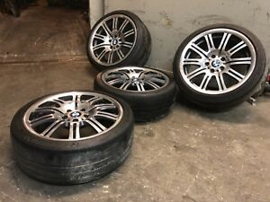 Bmw E46 M3 19 Staggered Wheels Rims Tires Wheel Rim Tire Oem