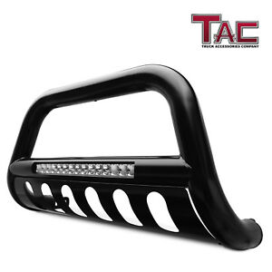 Tac 2015 2019 Chevy Colorado gmc Canyon 3 Led Bull Bar Black Bumper Brush Guard