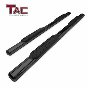 Tac 4 Oval Side Step For 2009 2018 Dodge Ram 1500 Crew Cab Running Boards Black