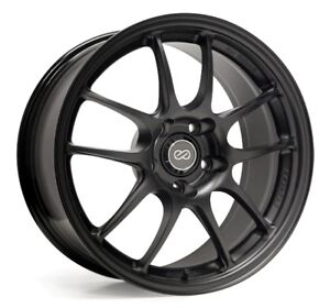 One 18x10 5 Enkei Pf01 5x114 3 38 Black Wheel