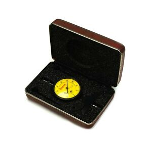 Starrett 664mj Metric Dial Depth Gage 0 75mm Range 01mm Grad In Case