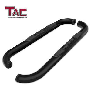 For 1995 2004 Toyota Tacoma Extended Cab 3 Black Side Step Rails Nerf Bars