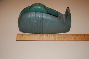 Vintage Cast Iron 3m Scotch Tape Dispenser Industrial Green 3 Core