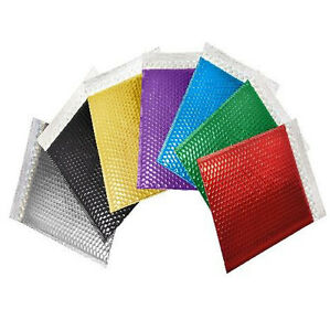 Metallic Bubble Mailer Padded Envelope Self Seal Poly Bags Choose Size