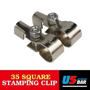 Pair Top Post Battery Cable Terminal Charger Wire Clamp Fast Connector Universal