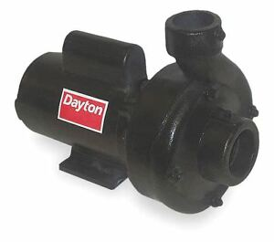 Dayton 3 Hp Centrifugal Pump 1 Phase 230 Voltage Cast Iron Housing Material
