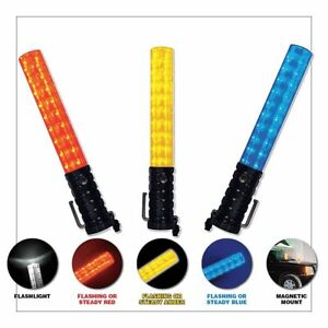 Emi Led 3 stage Safety Baton Amber clear Tip 3020