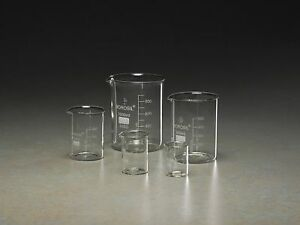 Beaker Set Glass Capacity 50ml 100ml 250ml 600ml 1000ml Bgset5