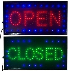 Led Open Closed Sign Business Bright Restaurant Diner Cafe Bar Pub Coffee Shop