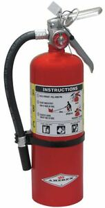 Amerex Dry Chemical Fire Extinguisher With 5 Lb Capacity And 14 Sec Discharge