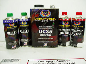 House Of Kolor Uc35 Kosmic Acrylic Urethane Klear Gallon Kit Clear Coat