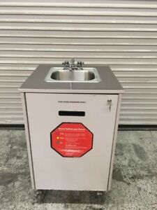 Portable Hand Wash Sink Mobile Station Cart W New Water Heater Mill Works 7765
