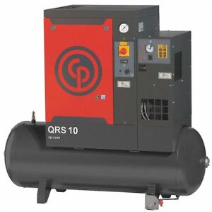 Chicago Pneumatic Qrs10hpd Rotary Screw Air Compressor W air Dryer