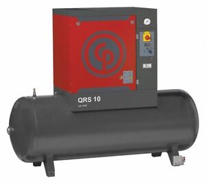 Chicago Pneumatic Qrsm10hp Rotary Screw Air Compressor 10hp 60gal