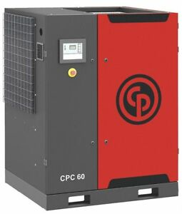 Chicago Pneumatic Cpc60 Rotary Screw Air Compressor 60hp 230v
