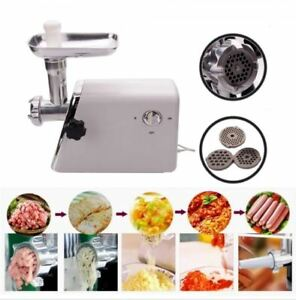 Electric Meat Grinder 1300w Industrial Steel Commercial Grind Sausage Mincer Ce