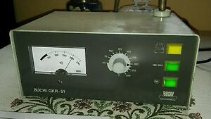 Buchi Gkr 51 Rotating Glass Drying Oven Electric Ball Controller Only Working