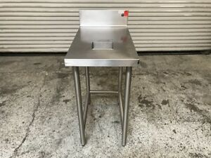18x30 Work Table Stainless Steel W Trash Hole Omniteam 7756 Commercial Prep