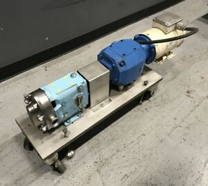Waukesha 015 Rotary Positive Displacement Pump 1 1 2hp