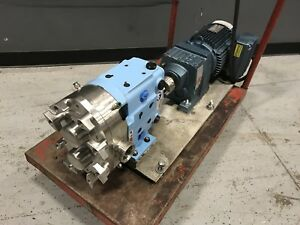 Waukesha Spx 030 Rotary Positive Displacement Pump W Sew eurodrive
