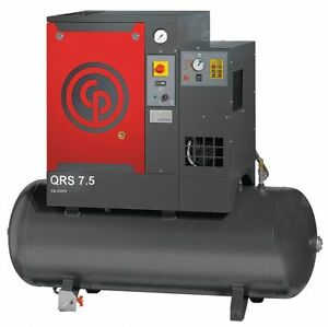Chicago Pneumatic Qrs75hpd Rotary Screw Air Compressor W air Dryer