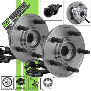 Pair 2 515078 Front Abs Wheel Hub Bearing 06 10 Ford Explorer Mercury Mountainer