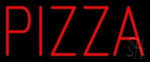 Simple Red Pizza Neon Sign 10 Tall X 24 Wide X 3 Deep n100 0138