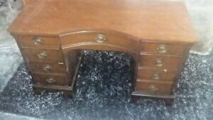 1949 Antique Vintage Vanity Desk With 9 Drawers
