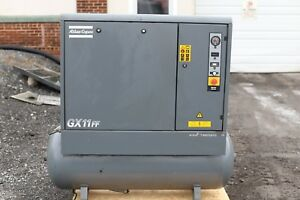 2005 Atlas Copco Gx11ff Rotary Screw 15hp Air Compressor Dryer 52 Cfm Nice
