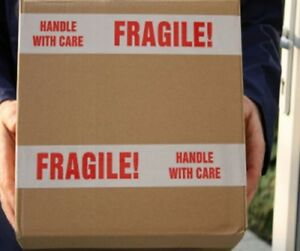 96 Rolls Fragile Tapes Printed Box Shipping Packing 3 X 2 Mil X 110 Yards