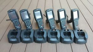 Datalogic Falcon 4420 Handheld Scanner Pistol Grip W Battery Charging Dock