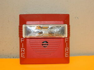 Cooper Wheelock Ns 24mcw Fire Alarm Strobe Horn 24 Vdc Wall Red 15 30 75 110cd