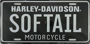 Harley Davidson Softail Motorcycle Licensed Metal License Plate Tag New L046