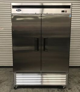 2 Door Upright Reach In Freezer Stainless Steel Atosa Mbf8503 7736 Commercial