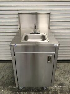 Portable Hot Water Hand Wash Sink Mobile Station Qualserve 7369 Commercial Nsf