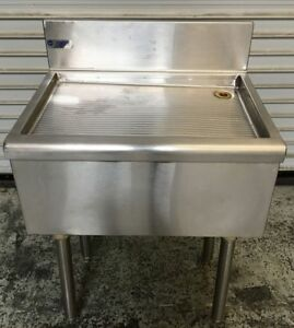 24 Under Bar Drainboard National Bar Systems 6586 Commercial Bar Equipment Nsf