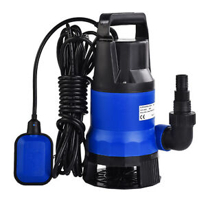 1hp 750w Dirty Clean Water Pump Submersible Swim Pool Pond Flood Drain 3432gph