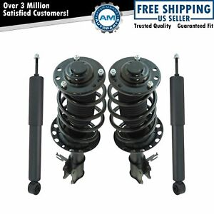 Front Rear Shock Complete Quick Loaded Strut Spring Assembly Kit Set 4pc New