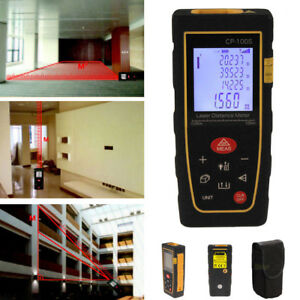 100m 328ft Digital Lcd Laser Distance Meter Range Finder Measure Diastimeter Usa