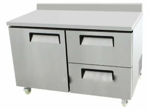 New 60 1 Door 2 Drawer Work Top Refrigerator Atosa Mgf8426 7138 Commercial